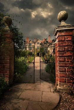 Michael Trevillion LARGE JACOBEAN HOUSE WITH GARDEN Houses