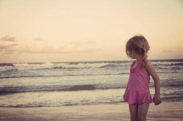 Heather Evans Smith GIRL IN PINK ON BEACH Children