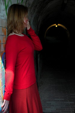 Ute Klaphake SCARED WOMAN IN TUNNEL Women