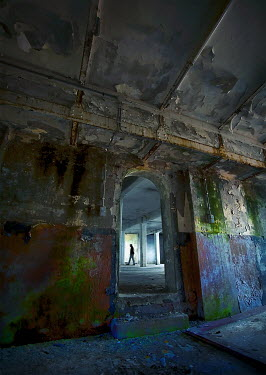 Bianca van der Werf MAN WALKING IN DERELICT BUILDING Men