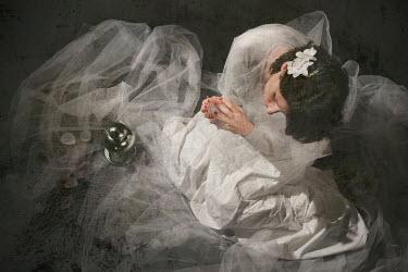 Romina Dughero WOMAN SITTING IN WEDDING DRESS Women