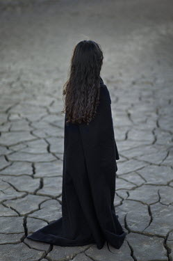 Fernando Arias Ramos CLOAKED GIRL ON CRACKED EARTH Children