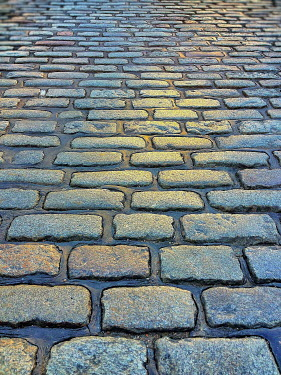 Harry Pettis WET SHINY COBBLED STREET Streets/Alleys