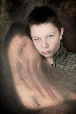 Clayton Bastiani TEENAGE BOY WITH DISTORTED MIRROR Children