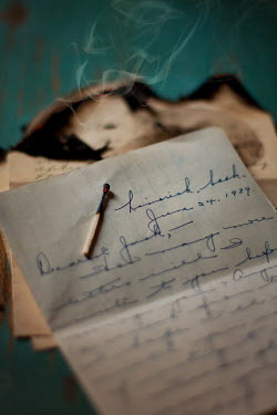 Susan Fox BURNT LETTER WITH MATCH Miscellaneous Objects