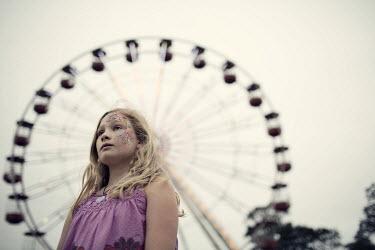 Doreen Kilfeather BLONDE GIRL BY BIG WHEEL Children