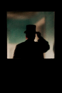 Clayton Bastiani MAN DOFFING HAT BY DOOR Men