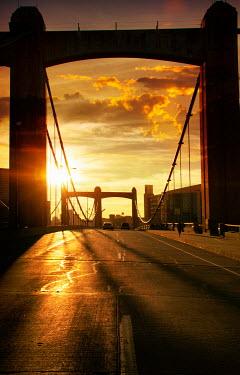 Elisabeth Ansley MODERN BRIDGE AT SUNSET Bridges