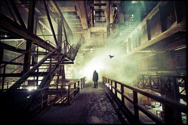 Christophe Dessaigne MAN IN INDUSTRIAL BUILDING Men