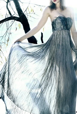 Marta Bevacqua WOMAN IN TRANSPARENT DRESS OUTDOORS Women