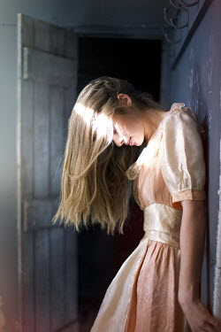 Sarah Louise Johnson GIRL LEANING BY OPEN DOOR Women