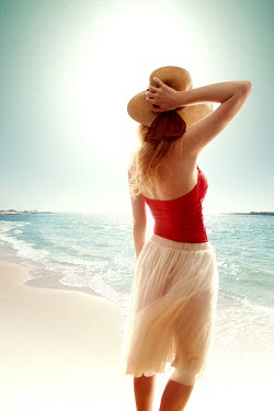 ILINA SIMEONOVA WOMAN IN STRAW HAT BY SEA Women