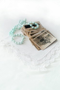 Agnieszka Kielak OLD PHOTOS WITH BLUE BEADS Miscellaneous Objects