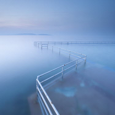 Tony Worobiec FLOODED PROMENADE WITH MISTY SEA Seascapes/Beaches