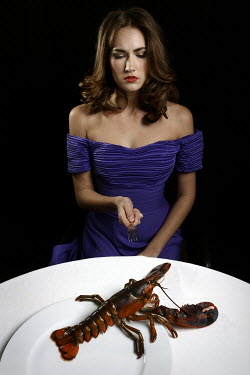 Stephen Carroll WOMAN WITH LIVE LOBSTER Women