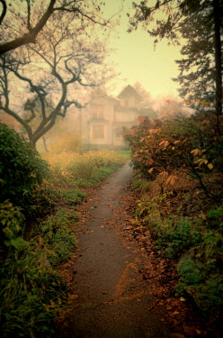 Jill Battaglia OLD HOUSE WITH COUNTRY PATH Houses