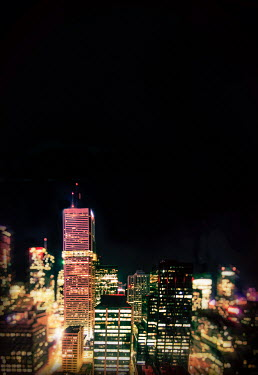 Elisabeth Ansley TORONTO CITYSCAPE AT NIGHT Specific Cities/Towns