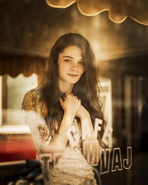 Aria Baro PRETTY GIRL IN CAFE WINDOW Women