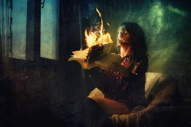 Kamil Akca MODERN WOMAN WITH BURNING BOOK Women