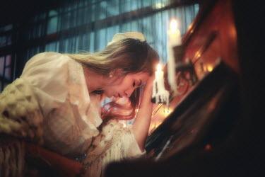 Kamil Akca HISTORICAL WOMAN SLUMPED OVER PIANO Women