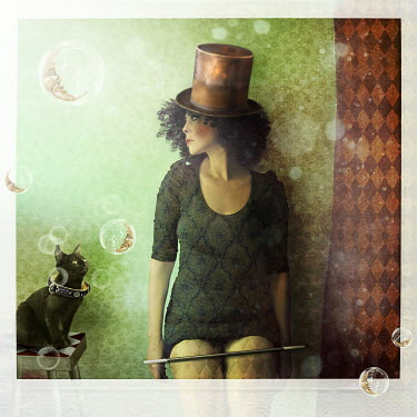 Marta Orlowska FEMALE MAGICIAN WITH CAT Women