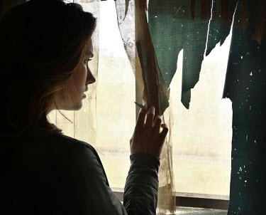 Stephen Carroll WOMAN BY WINDOW WITH RAGS Women
