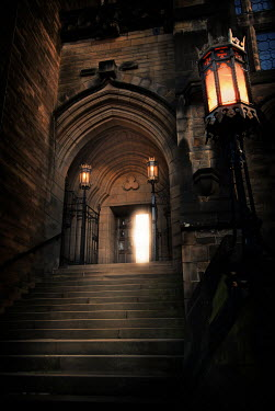 Michael Trevillion EXTERIOR OF HISTORICAL BUILDING AT NIGHT Miscellaneous Buildings