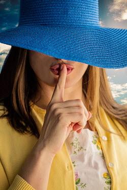 Elisabeth Ansley WOMAN IN BLUE HAT SILENCING Women