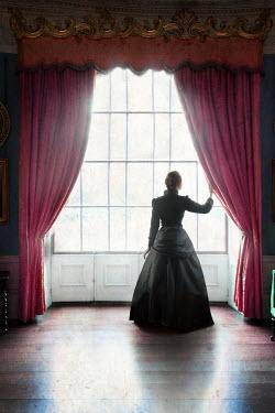 Lee Avison VICTORIAN WOMAN BY PINK CURTAINS Women