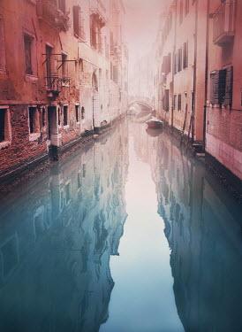Mark Owen EMPTY MISTY CANAL IN VENICE Specific Cities/Towns