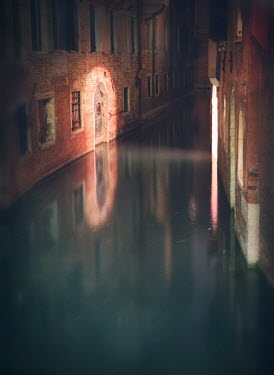 Mark Owen EMPTY VENETIAN CANAL AT NIGHT Specific Cities/Towns