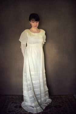 Susan Fox REGENCY WOMAN STANDING IN WHITE Women