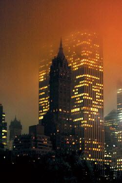 Alexa Garbarino NEW YORK AT NIGHT IN FOG Specific Cities/Towns