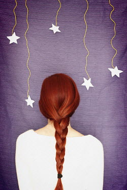 Diana Debord WOMAN WITH PLAIT AND STARS Women