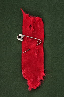 Peter Hatter SAFETY PIN IN RED RIBBON Miscellaneous Objects