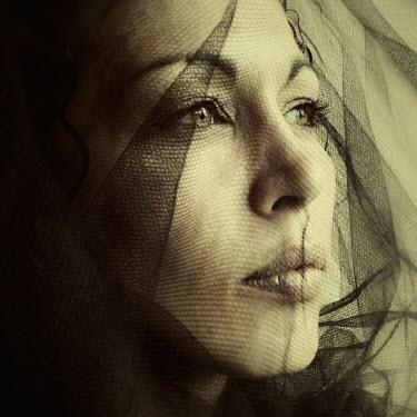Carmen Gonzalez FACE OF WOMAN COVERED WITH VEIL Women