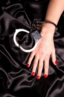 Victor Habbick FEMALE HAND WITH SILVER HANDCUFF Body Detail