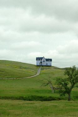 Jill Battaglia LARGE WHITE HOUSE ON HILL Houses