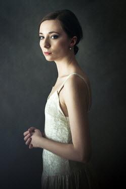 Agnieszka Kielak ELEGANT WOMAN IN WHITE DRESS Women