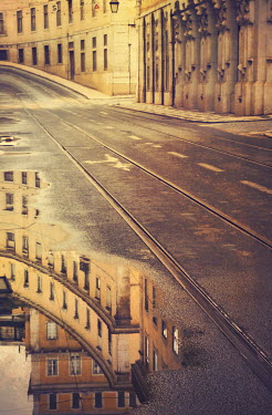 Irene Lamprakou EMPTY HISTORICAL STREET WITH TRAMLINES Streets/Alleys