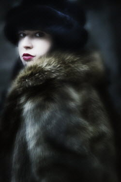 J.A Rausch WOMAN IN HAT AND FUR Women