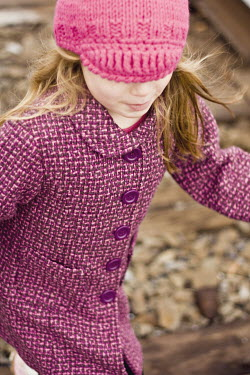 Jenn DiGuglielmo GIRL IN PURPLE COAT OUTDOORS Children