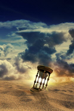 Victor Habbick SURREAL HOURGLASS IN STORMY DESERT Miscellaneous Objects