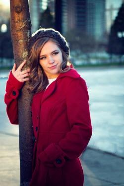 Elisabeth Ansley GIRL IN RED IN CITY Women