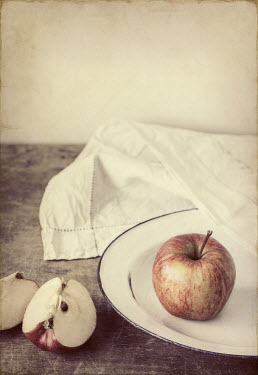 Amy Weiss APPLES AND NAPKIN ON TABLE Miscellaneous Objects