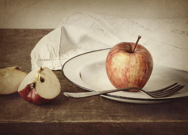 Amy Weiss APPLES, PLATE, FORK AND NAPKIN Miscellaneous Objects