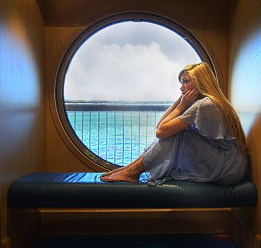Terry Bidgood WOMAN IN CABIN ON SHIP Women