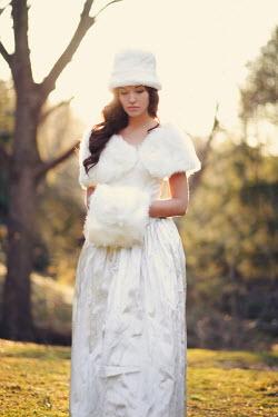 Susan Fox SAD WOMAN IN WHITE FUR Women