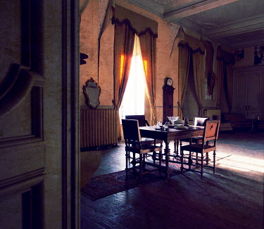 RomanyWG FADED GRANDEUR OF DINING ROOM Interiors/Rooms