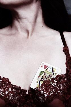 Clayton Bastiani WOMAN IN BRA WITH CARD Women